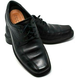 ECCO Shock Point Black Leather Oxford Dress Shoes
